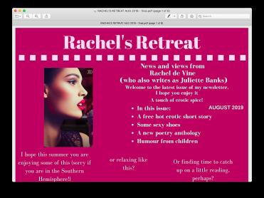 Rachel's Return August 2019